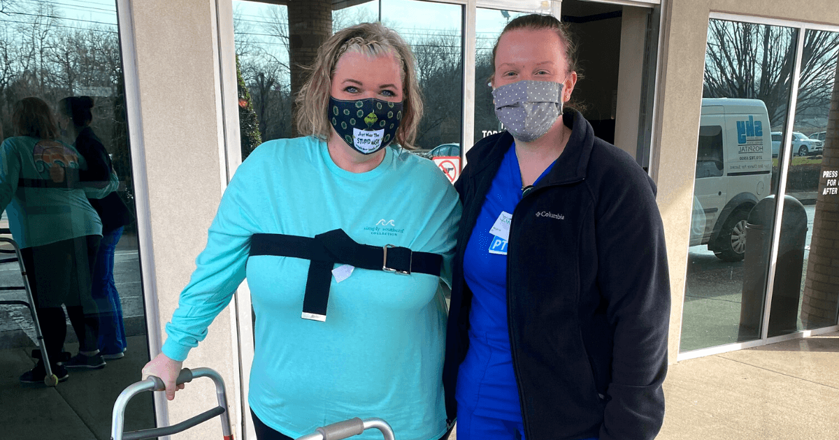 Left without feeling or function in her lower extremities, Kristina Watson chose SKY Rehab to help her regain her prior level of function.