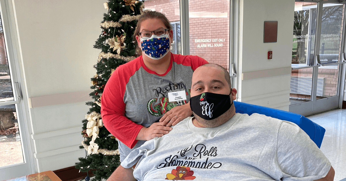 Quentin Christian sustained extensive injuries in a motor vehicle accident that required several surgeries, followed by an inpatient rehab stay at SKY.